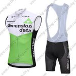 2018 Team Dimension data Cycling Sleeveless Bib Kit White Green