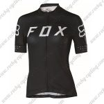 2018 Team FOX Womens Cycling Jersey Maillot Shirt Black White