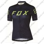 2018 Team FOX Womens Cycling Jersey Maillot Shirt Black Yellow