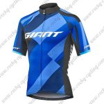 2018 Team GIANT Cycling Jersey Maillot Shirt Blue Black
