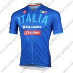 2018 Team ITALIA SUZUKI Cycling Jersey Maillot Shirt Blue