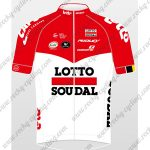 2018 Team LOTTO SOUDAL Cycling Jersey Maillot Shirt Red White