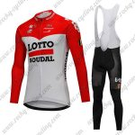 2018 Team LOTTO SOUDAL Cycling Long Bib Suit Red White
