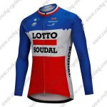 2018 Team LOTTO SOUDAL Cycling Long Jersey Blue White Red
