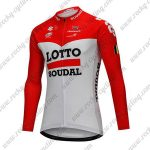 2018 Team LOTTO SOUDAL Cycling Long Jersey Red White