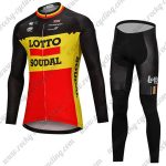 2018 Team LOTTO SOUDAL Cycling Long Suit Black Yellow Red