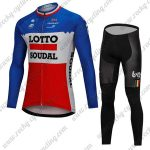 2018 Team LOTTO SOUDAL Cycling Long Suit Blue White Red