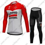 2018 Team LOTTO SOUDAL Cycling Long Suit Red White