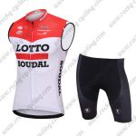 2018 Team LOTTO SOUDAL Cycling Sleeveless Kit Red White