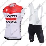 2018 Team LOTTO SOUDAL Riding Sleeveless Bib Kit Red White