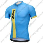 2018 Team MAVIC Cycling Jersey Maillot Shirt Blue