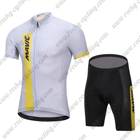 2018 Team MAVIC Biking Outfit Summer Winter Cycle Jersey and Padded ... 6b1706030