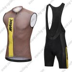 2018 Team MAVIC Cycling Sleeveless Bib Kit Brown