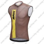 2018 Team MAVIC Cycling Sleeveless Jersey Vest Brown
