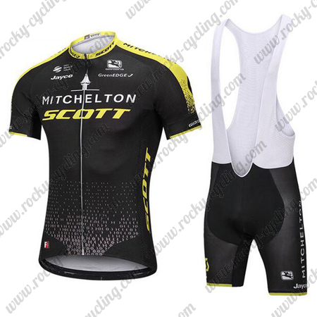 2018 Team MITCHELTON SCOTT Biking Outfit Cycle Jersey and Padded Bib ... f1c831142
