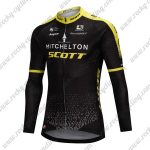 2018 Team MITCHELTON SCOTT Cycling Long Jersey Black Yellow
