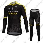 2018 Team MITCHELTON SCOTT Cycling Long Suit Black Yellow