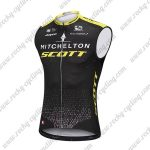 2018 Team MITCHELTON SCOTT Cycling Sleeveless Jersey Vest Black Yellow