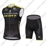 2018 Team MITCHELTON SCOTT Cycling Sleeveless Kit Black Yellow