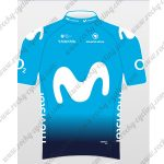 2018 Team Movistar Cycling Jersey Maillot Shirt Blue