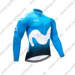 2018 Team Movistar Cycling Long Jersey Blue