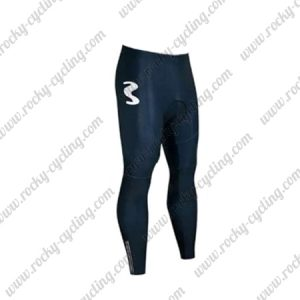 2018 Team Movistar Cycling Long Pants Tights Blue