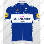 2018 Team QUICK STEP Cycling Jersey Maillot Shirt Blue White