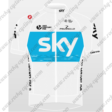 ... Cycle Wear Summer Winter Biking Maillot Jersey Tops Shirt White Blue. 2018  Team SKY Cycling Jersey Maillot Shirt White Blue c9cda9beb