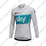 2018 Team SKY Cycling Long Jersey White Blue