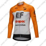 2018 Team drapac cannondale Cycling Long Jersey Yellow White