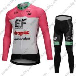2018 Team drapac cannondale Cycling Long Suit Pink White