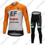 2018 Team drapac cannondale Cycling Long Suit Yellow White