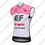 2018 Team drapac cannondale Cycling Sleeveless Jersey Vest Pink White