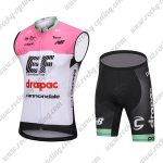 2018 Team drapac cannondale Cycling Sleeveless Kit Pink White