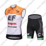 2018 Team drapac cannondale Cycling Sleeveless Kit Yellow White