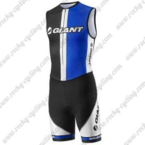 2013 Team GIANT Cycling Skin Suit Speedsuit Triathlon Black Blue