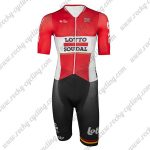 2016 Team LOTTO SOUDAL Cycling Skin Suit Speedsuit Triathlon Red