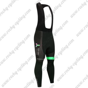 2017 Team ASTANA Cycle Long Bib Pants Tights Black Green