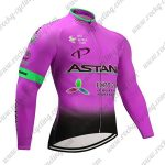2017 Team ASTANA Cycle Long Jersey Pink