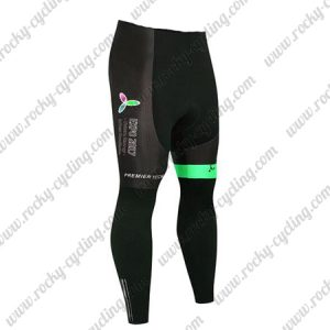2017 Team ASTANA Cycle Long Pants Tights Black Green