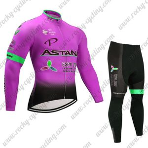 2017 Team ASTANA Cycle Long Suit Pink