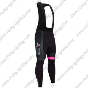 2017 Team ASTANA Cycling Long Bib Pants Tights Black Pink