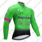 2017 Team ASTANA Cycling Long Jersey Green Pink