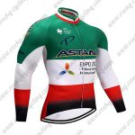 2017 Team ASTANA Cycling Long Jersey Green White Red