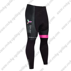 2017 Team ASTANA Cycling Long Pants Tights Black Pink