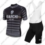 2017 Team BIANCHI Cycling Bib KIt Black Grey