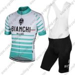 2017 Team BIANCHI Cycling Bib Kit White Green