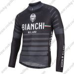 2017 Team BIANCHI Cycling Long Jersey Black Grey