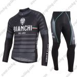 2017 Team BIANCHI Cycling Long Suit Black Grey