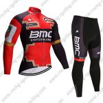 2017 Team BMC Cycle Long Suit Red Black